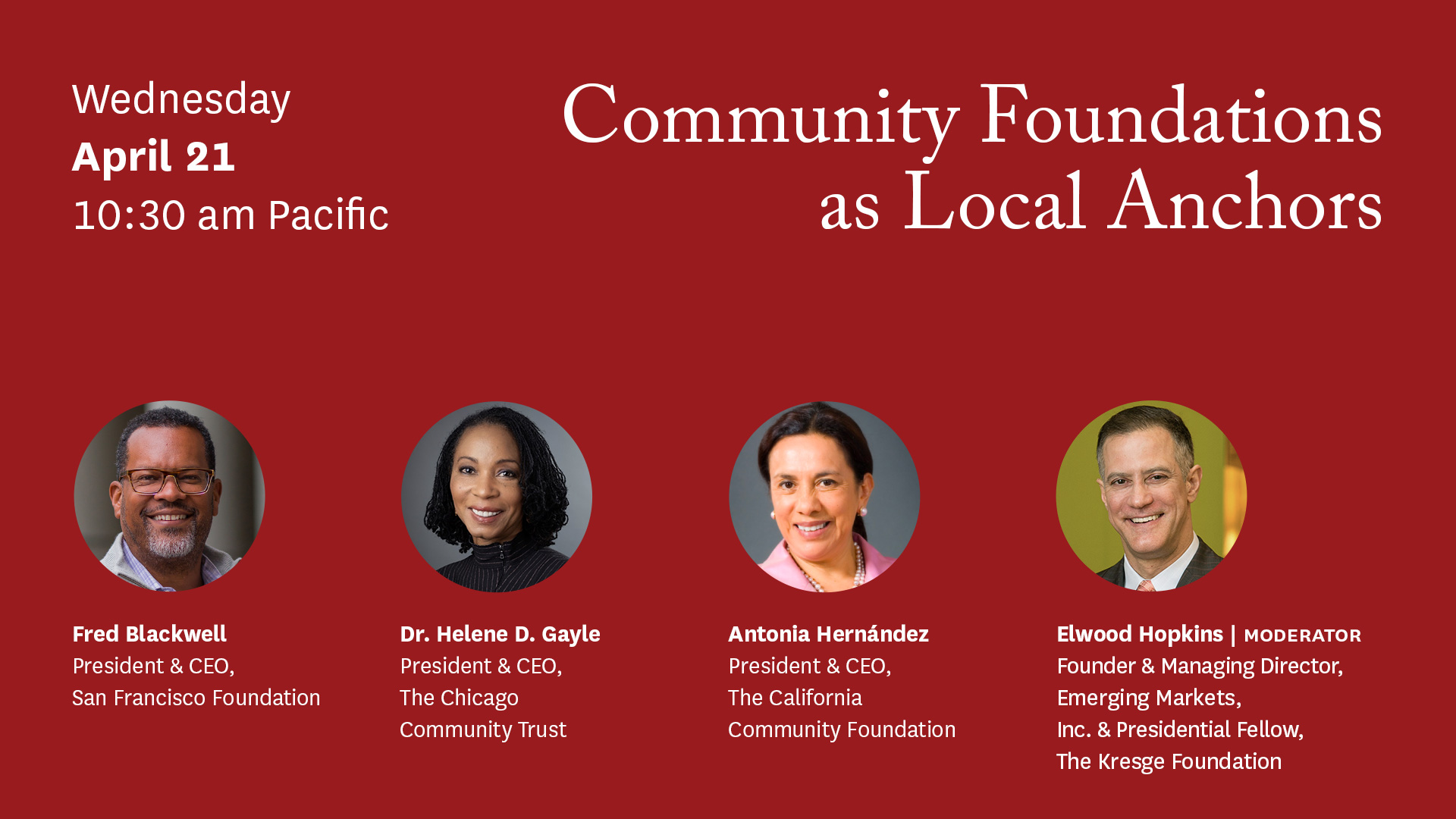 Community Foundations as Local Anchors